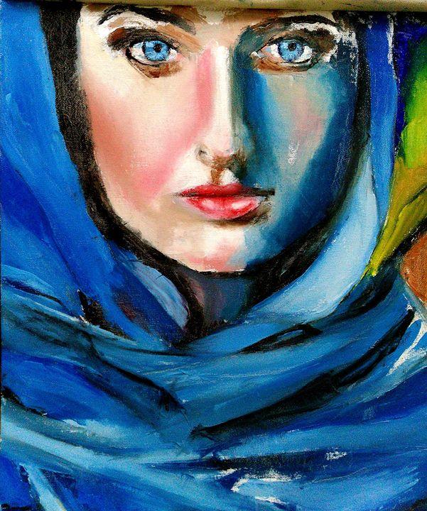 Lady in the veil - Stuti Choudhary Art
