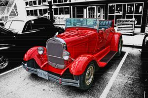 Red Ford Convertible