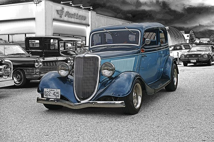 Beautiful Two-toned Blue Ford - R.Harris Photography
