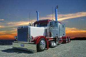 Peterbilt with Sunset