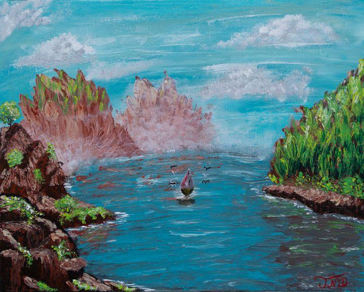 Spiky Mountain Lake - Tunde