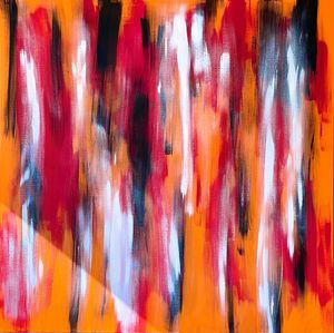 Geisha Orange Abstract - Art by AK