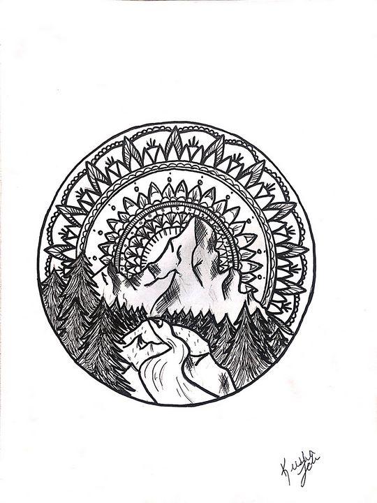 Fantasy mountain - •Art by Keesha•