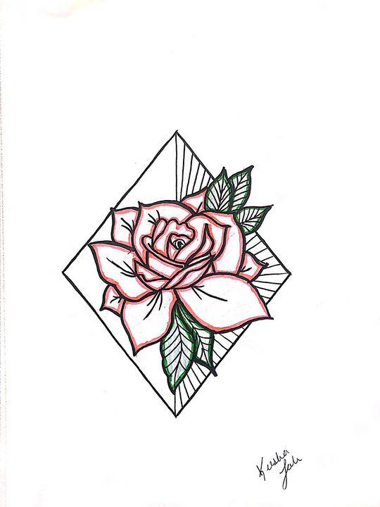 Pink rose - •Art by Keesha•