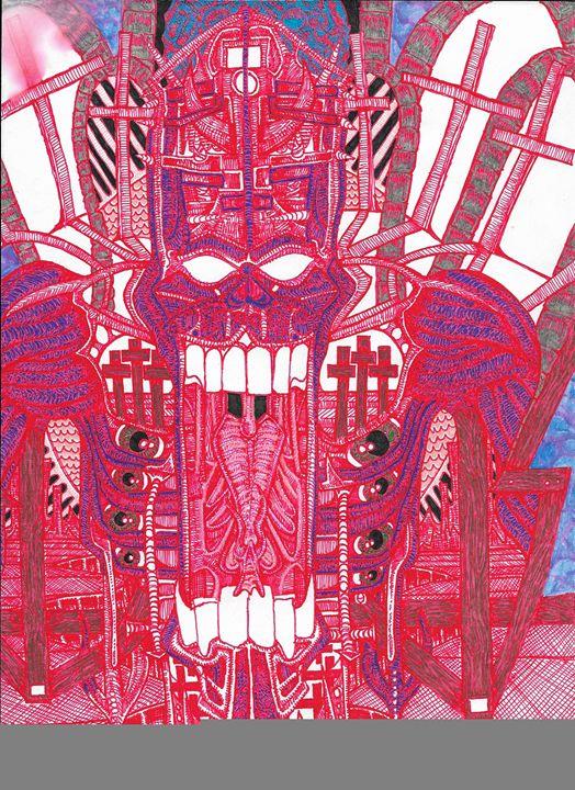 Demon Pope in Red - Necromancer
