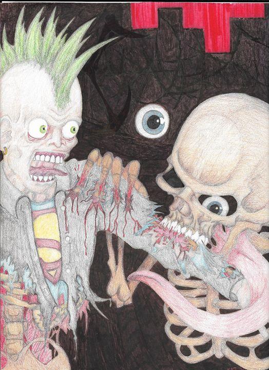 Punk Zombie VS Death - Necromancer