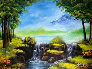 LANDSCAPE PAINTING - Dhyana Mitta
