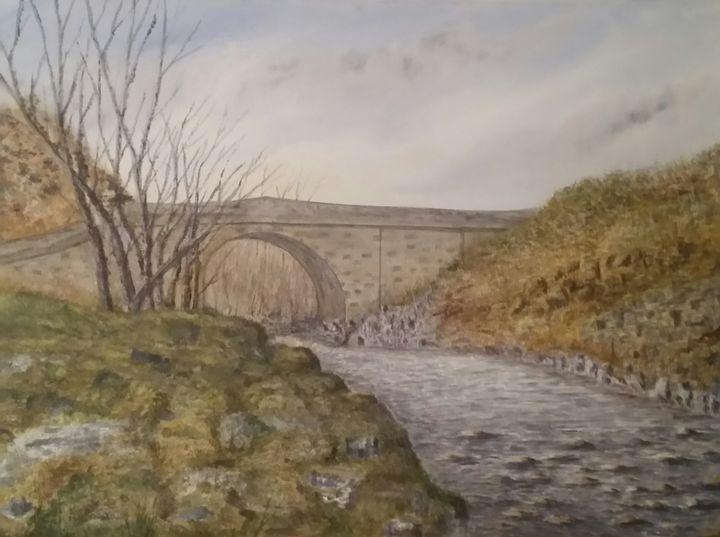 """""""stone Bridge"""" in Stanhope Weardale. - Steve Allison Art"""