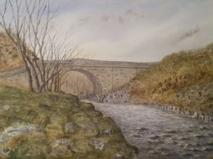 """stone Bridge"" in Stanhope Weardale."