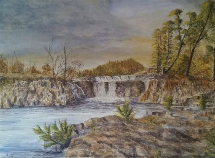Low Force Waterfalls - Steve Allison Art