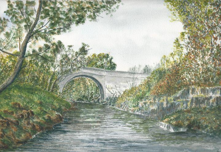 `Stone Bridge in summer`. - Steve Allison Art