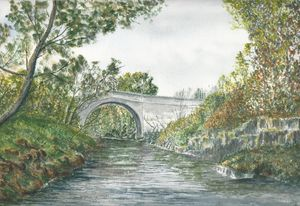 `Stone Bridge in summer`.