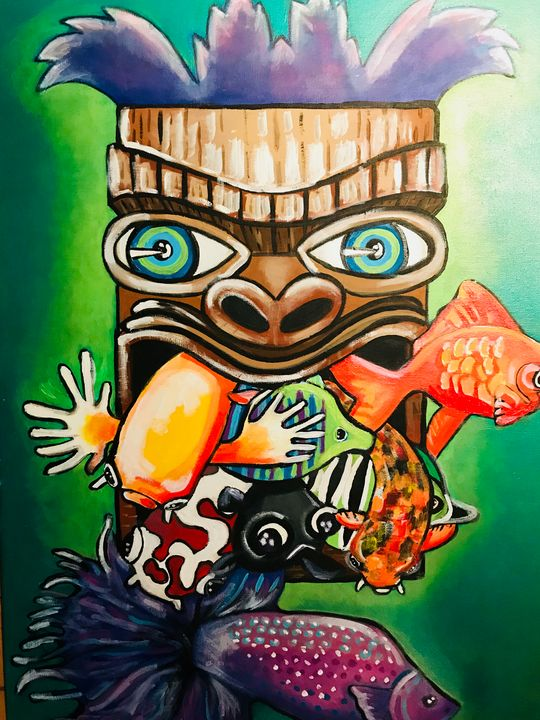 Hawaiian Totem - JackalStudio16