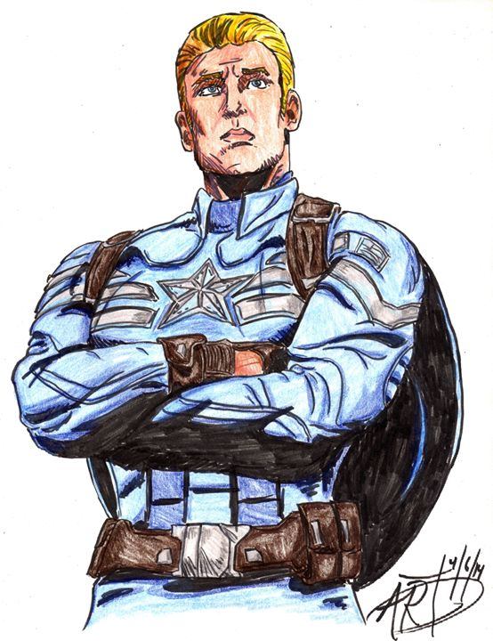 Chris Evans as Captain America - Hero Worship