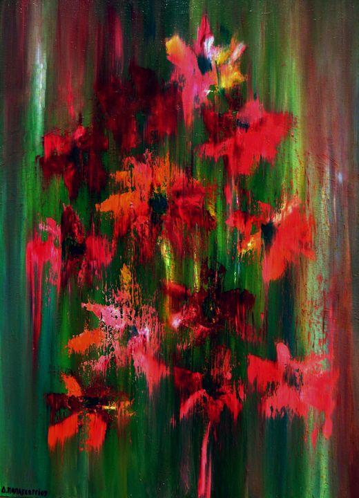 Red Flowers - Dimitra Papageorgiou