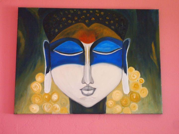 Buddha in Blue - Ruchi Jain's Art Gallery