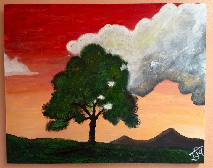 Cloud and the Tree - Ruchi Jain's Art Gallery