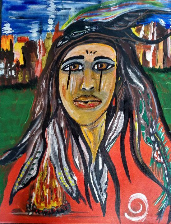 """""""Little big bear's heartbreak!"""" - Lakota squaw art"""