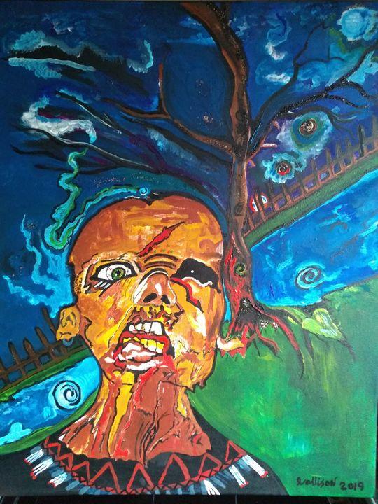 Zombie's PARADISE - Lakota squaw art