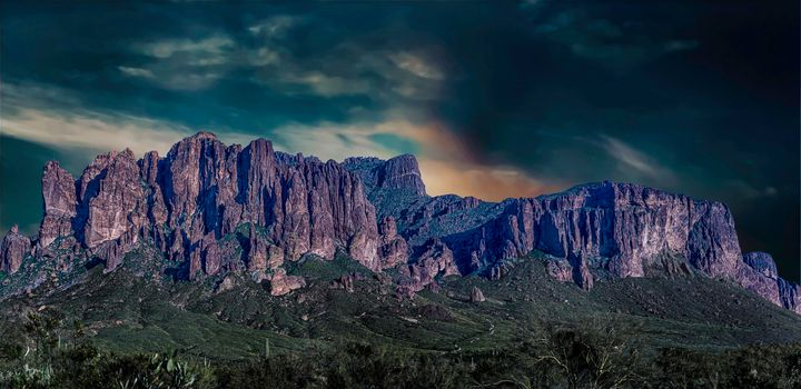 Superstition Mountains - Nature Photography by Richard Higgins