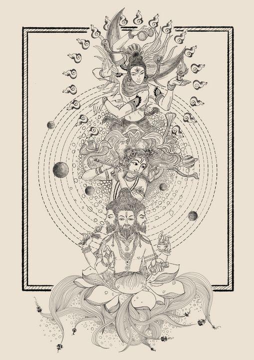 The three deities - Art.Shelen