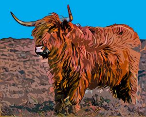 Angry bull - PaST PReSENcE ArT - Digital Art, Animals, Birds, & Fish