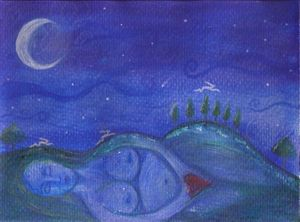 Night Flying - Signed Print by Julie