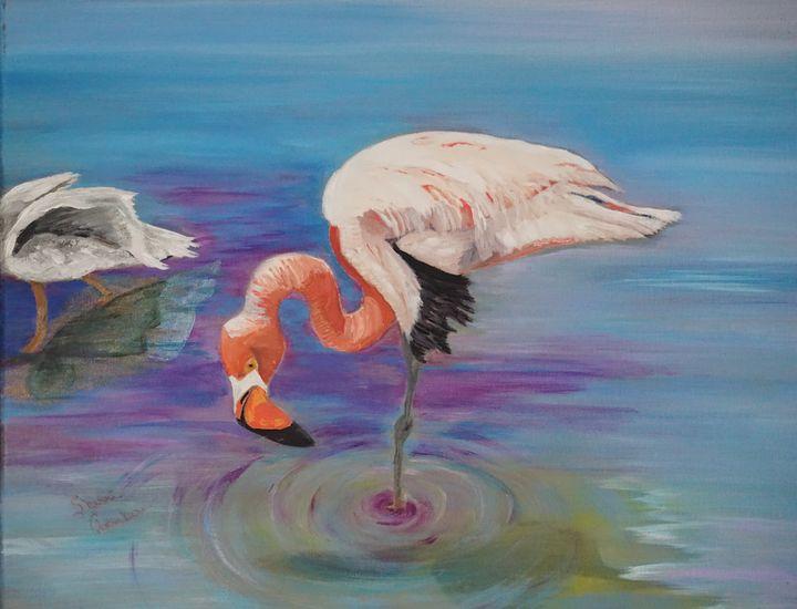 The Proud Flamingo - Chambersart