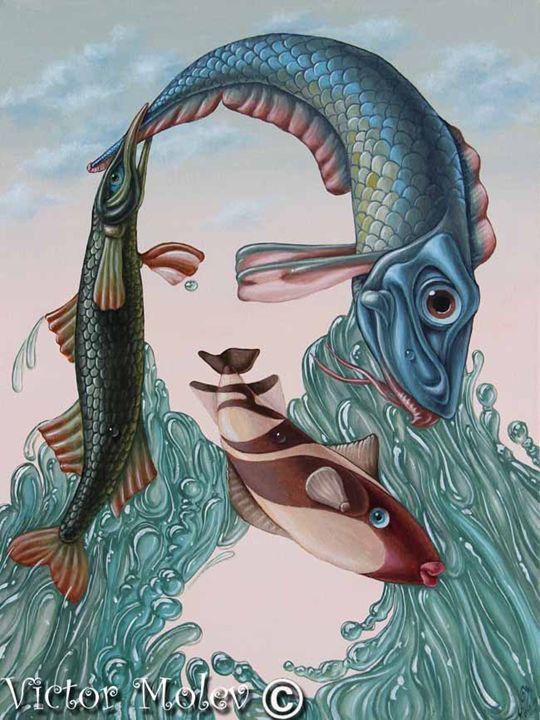 Mona Lisa (Water) - Victor Molev