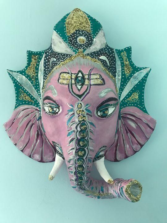 Ganesha Mask Print - Jamie Beth Walkinshaw