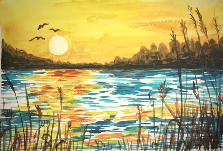 The Sunset Yesterday - Daniel's Art Gallery