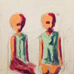 Figures sitting