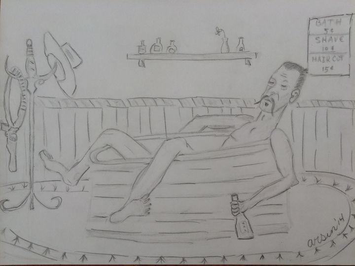 """""""In the Tub"""" - Arsin's Rogue Art"""
