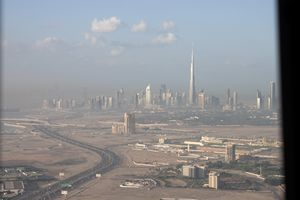 Dubai Down town from al Khahil Rd