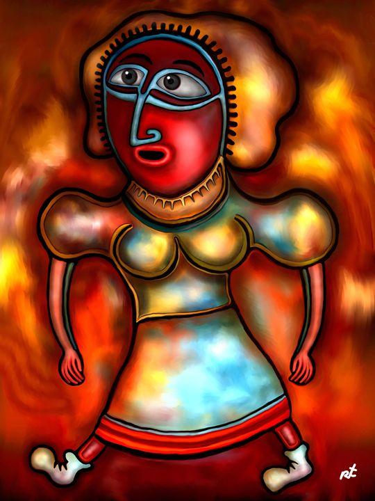 Beautiful lady by rafi talby - RAFI TALBY - PAINTER