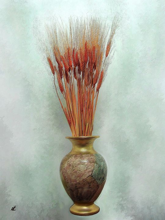 ‏‏Red wheat by rafi talby - RAFI TALBY - PAINTER
