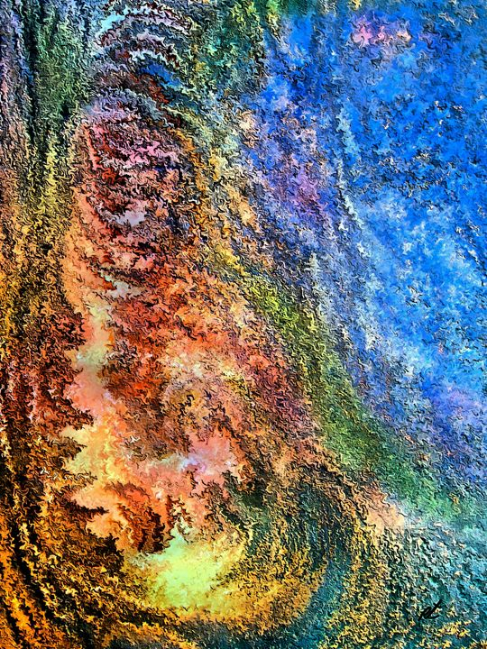 Stone man by rafi talby - RAFI TALBY - PAINTER
