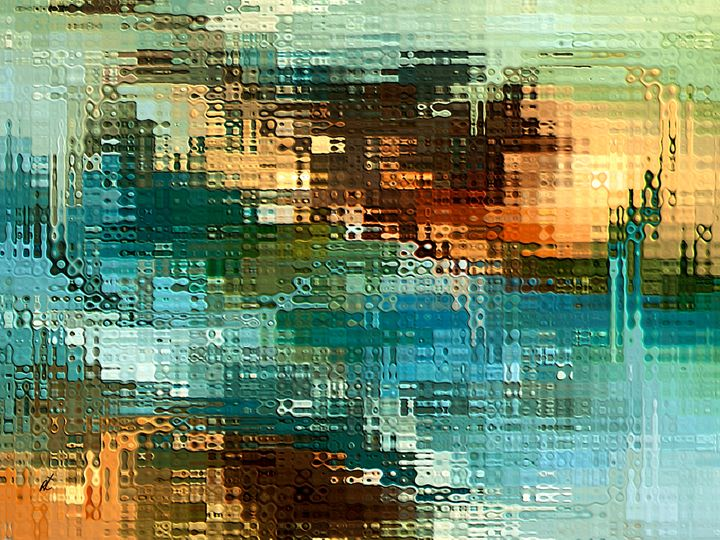 Abstract space by rafi talby - RAFI TALBY - PAINTER