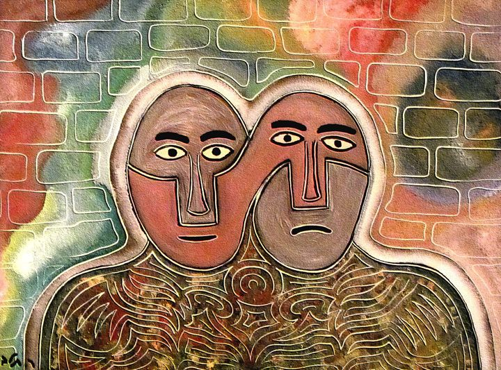 Two figures by rafi talby - RAFI TALBY - PAINTER