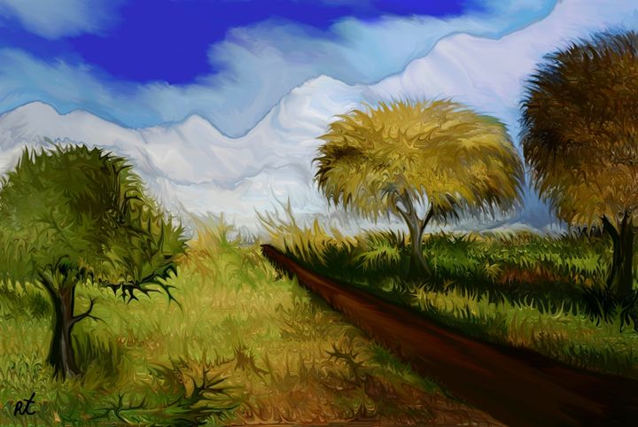 The way to the snowy mountains by ra - RAFI TALBY - PAINTER
