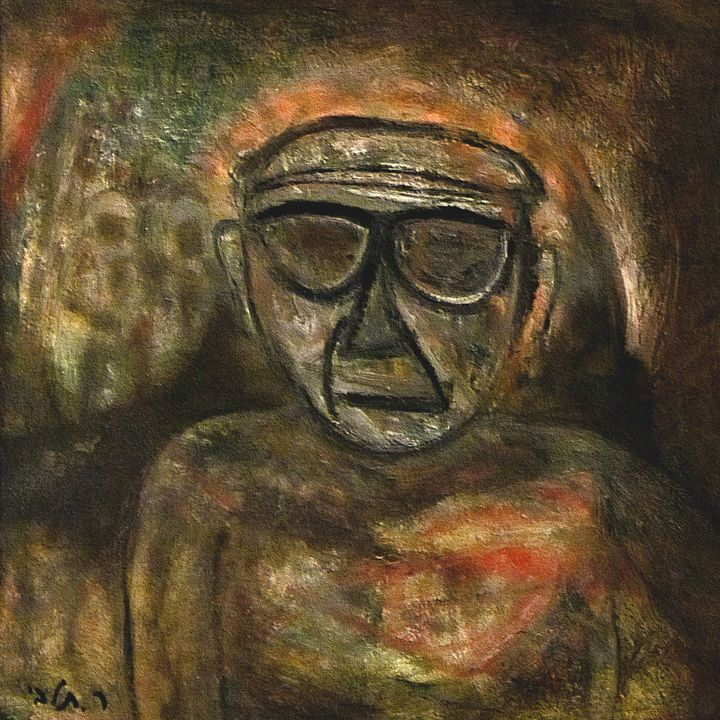 An old man during WW2 by rafi talby - RAFI TALBY - PAINTER