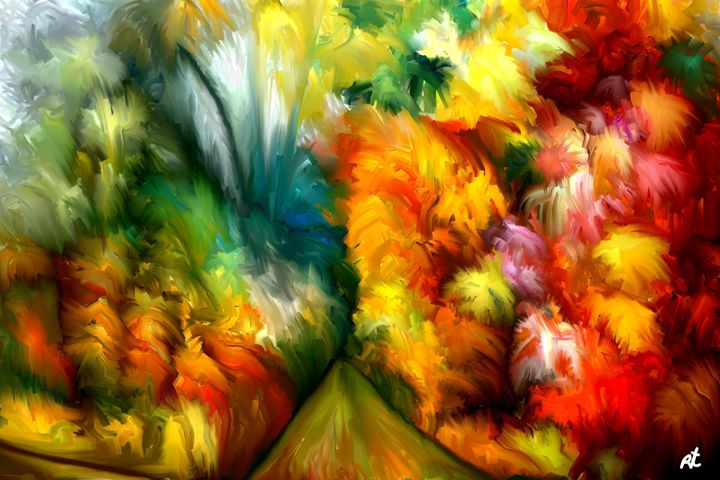 Tropical Abstract by rafi talby - RAFI TALBY - PAINTER