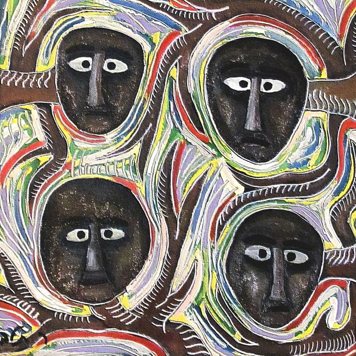 Four faces by rafi talby - RAFI TALBY - PAINTER