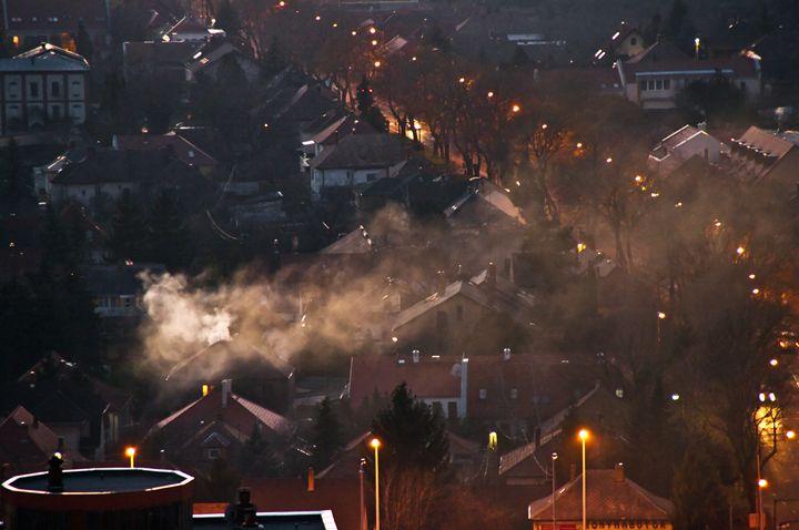 Smoke over the city - Gabor Szabo photography