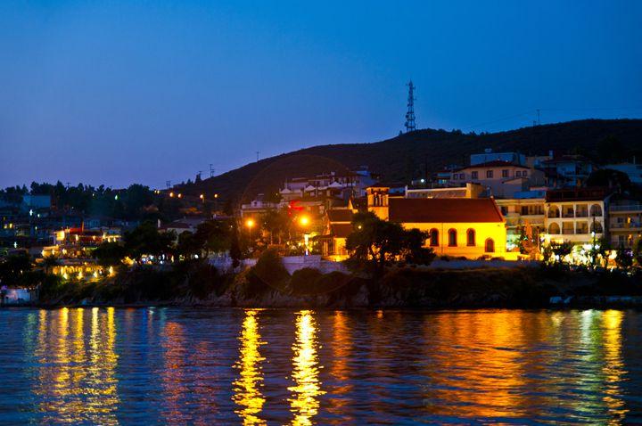 Night in Neos Marmaras - Gabor Szabo photography