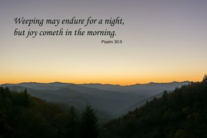 Psalm 30 Sunrise