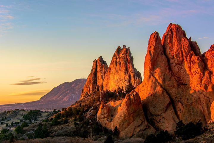 Garden of the Gods Winter Sunrise - Doug Wielfaert Photography