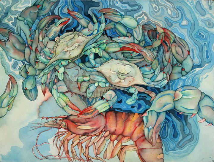 Blue crabs with shrimp - Liduine bekman