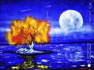 Night River Tree