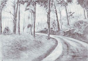 Pencil art,The road